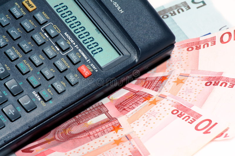 Calculator And Money Stock Photography