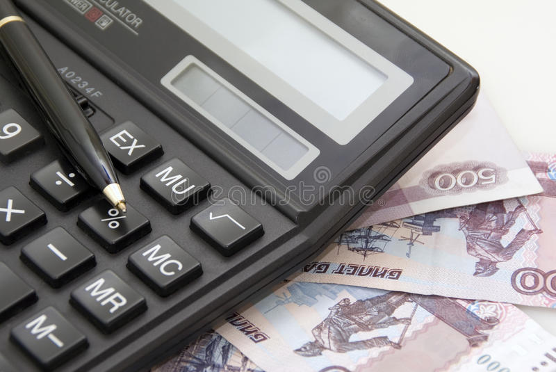 Download Calculator, Money And Black Pen Stock Image - Image: 29129349