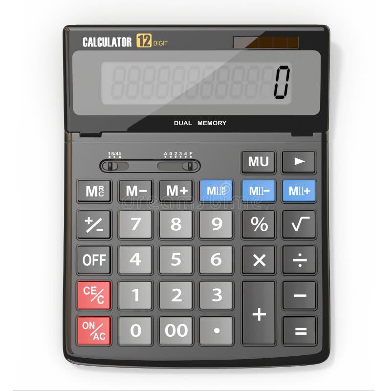 Calculator op witte achtergrond royalty-vrije illustratie