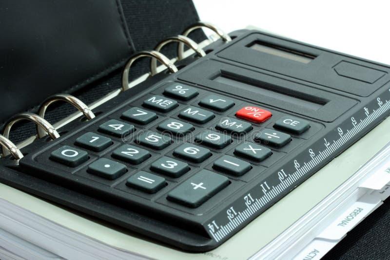 Calculator in organiser