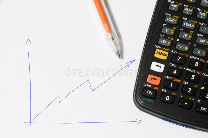 Download Calculator and pen stock photo. Image of white, calculation - 26573352