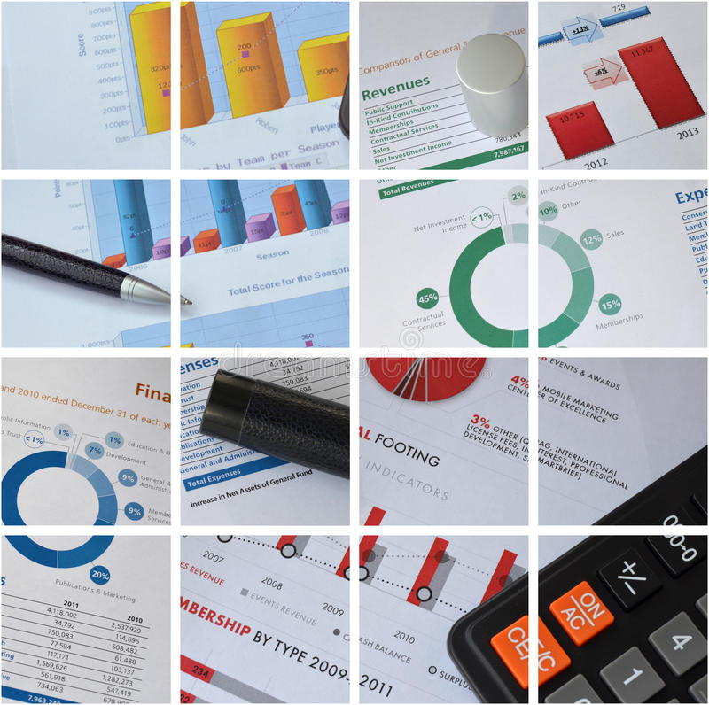 Calculator, pen and graph. Business pen and calculator over graph close-up stock images