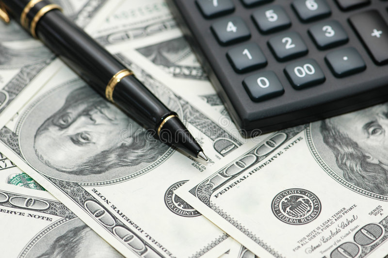 Download Calculator And Pen Over The Hu Stock Image - Image: 2315255