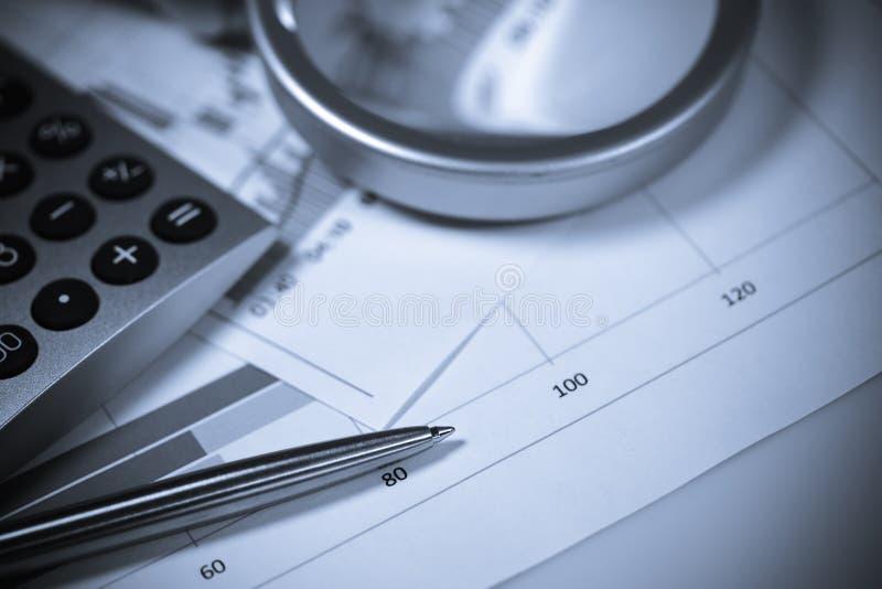 Calculator And Pen. Shallow DOF. Stock Image