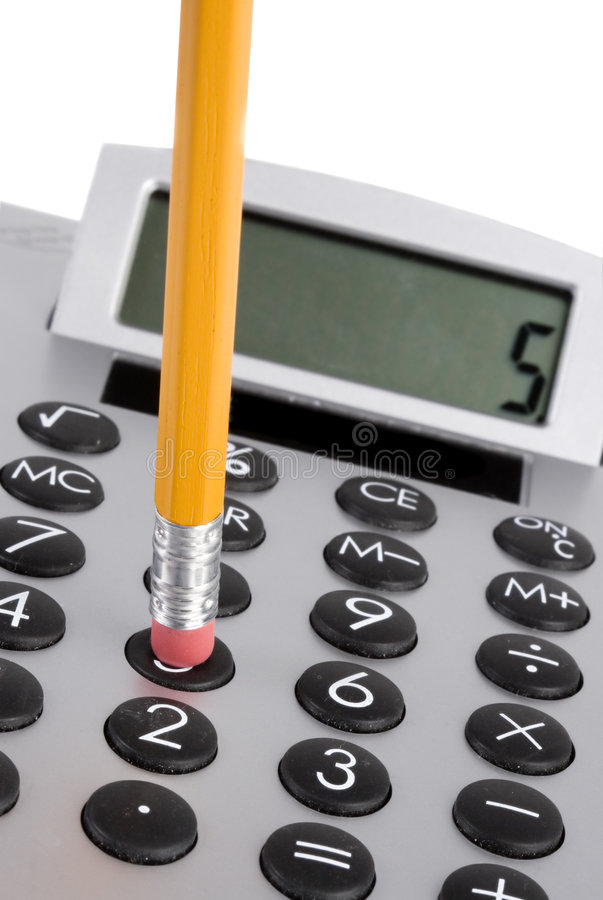 Download Calculator and pencil stock photo. Image of bank, shine - 2252086