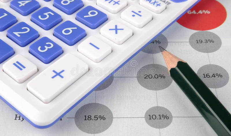 Download Calculator, Pencil And Data Stock Image - Image of counter, chart: 13825777