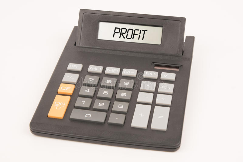 Calculator profit royalty free stock photo
