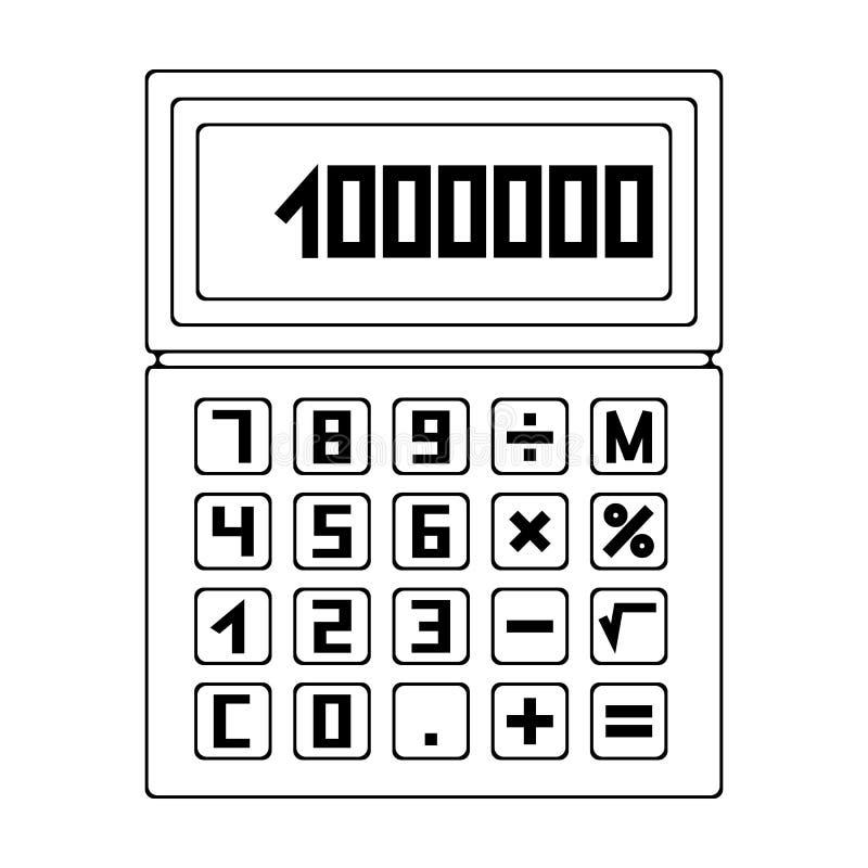 Calculatoraltor Single Icon In Outline Style Vector Symbol Stock