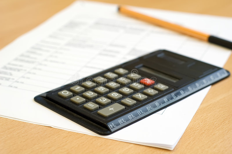 Download Calculator and sheet stock photo. Image of balance, accountancy - 5059418