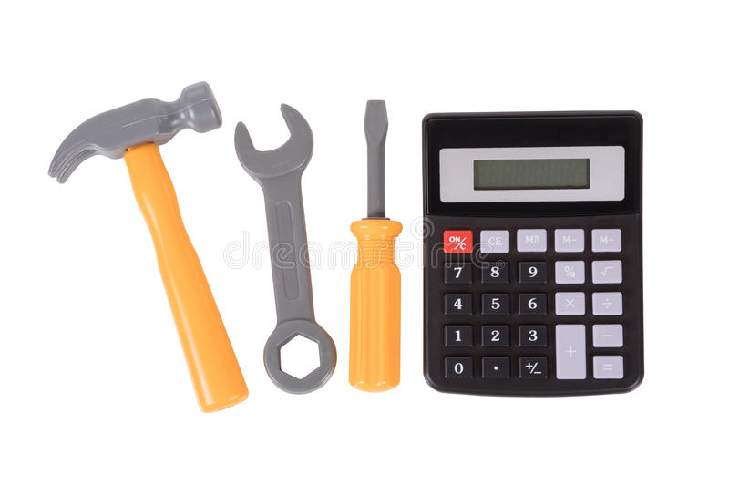 Tool Kit Construction Planning Concept Stock Photo Image