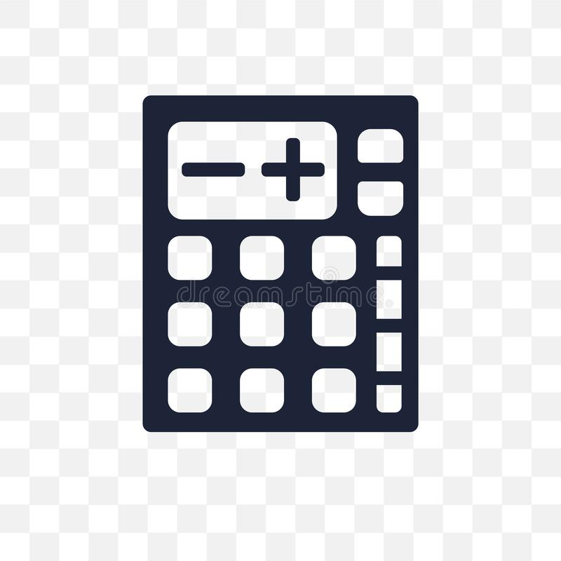 Calculator transparent icon. Calculator symbol design from Elect. Ronic devices collection vector illustration