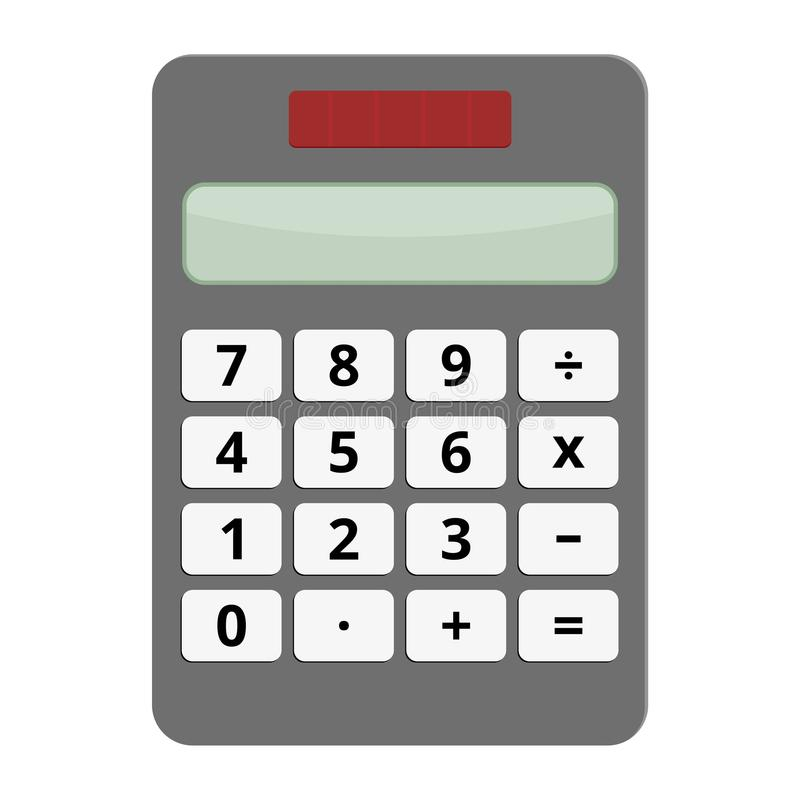Calculator Vector Icon. On white background stock illustration