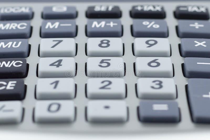 Calculator Verscheidene sleutels Macrodetail stock foto's