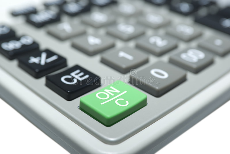 Calculatormacro Isolated On White. Clipping Path. Royalty Free Stock Images