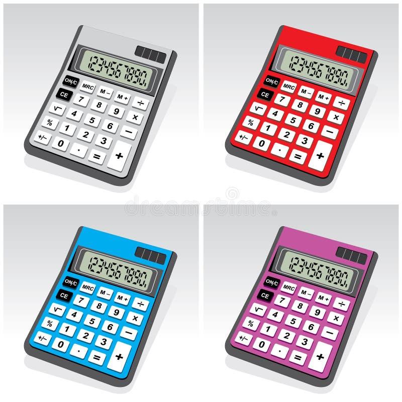Calculators royalty-vrije illustratie