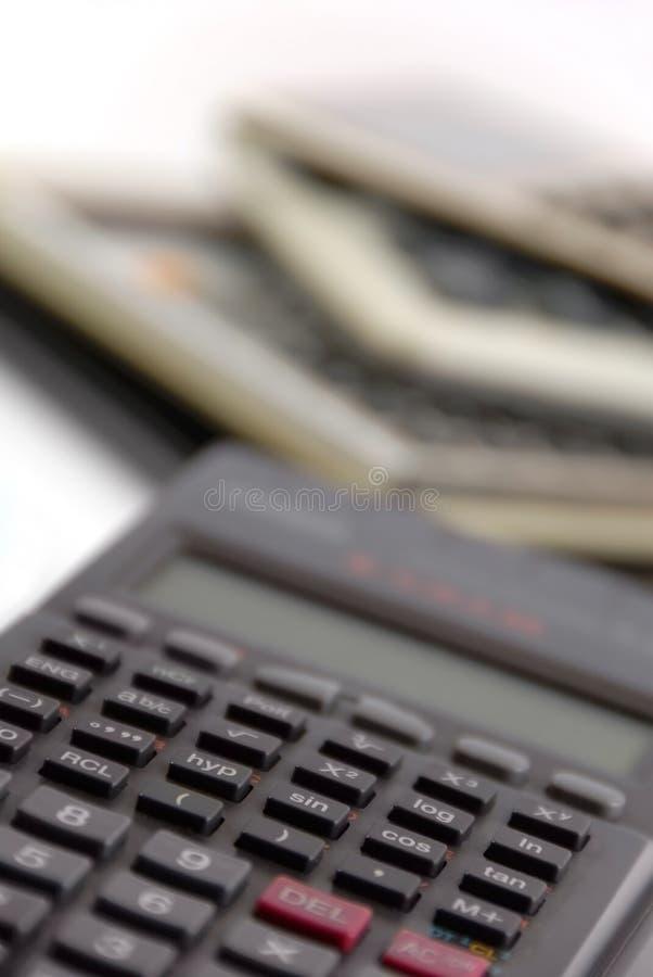 The calculators stock photos