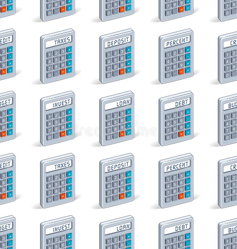 Calculators seamless background, backdrop for taxes or accounting website. Calculators seamless background, backdrop for taxes or accounting website, vector royalty free illustration