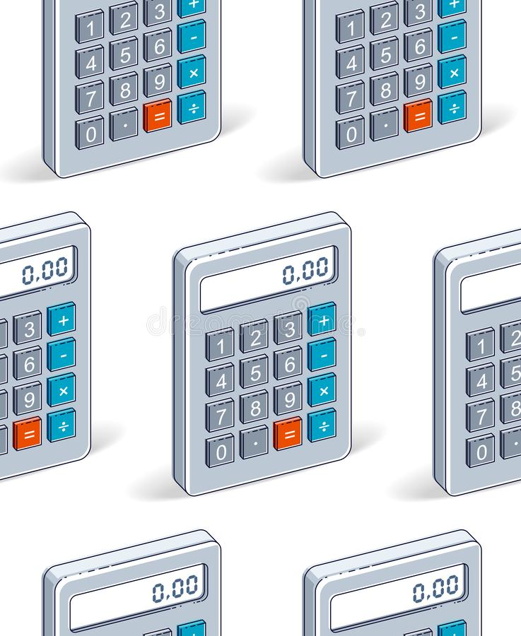 Calculators seamless background, backdrop for taxes or accounting website. Calculators seamless background, backdrop for taxes or accounting website, vector vector illustration