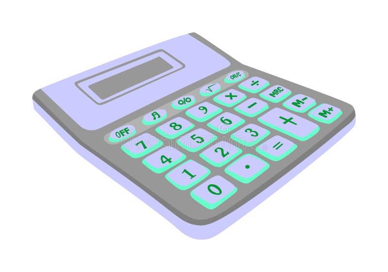 Calculatorvector op een witte achtergrond wordt geïsoleerd die royalty-vrije illustratie