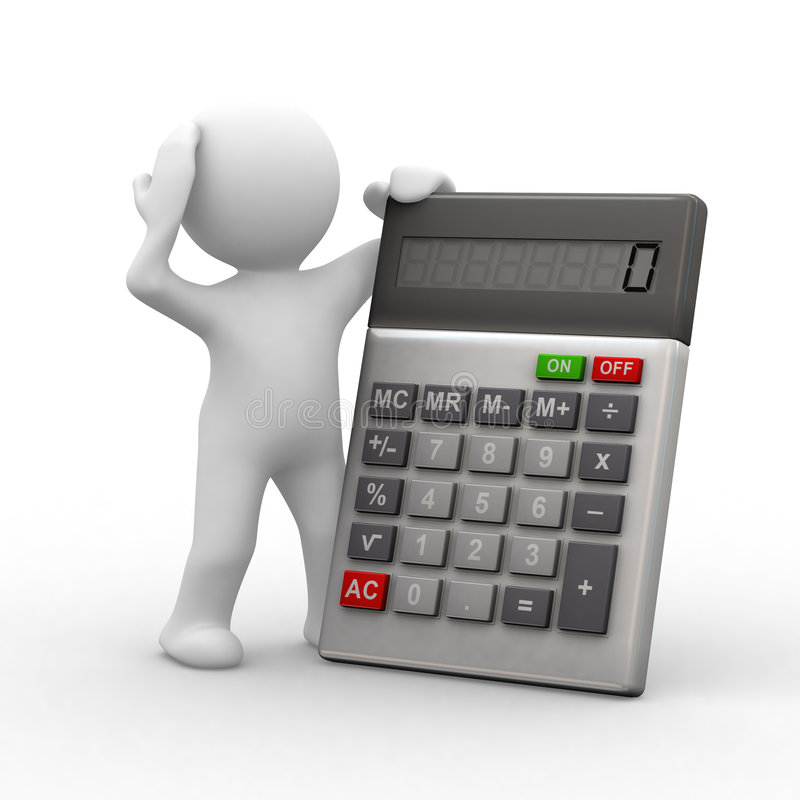 Calculatrice illustration stock