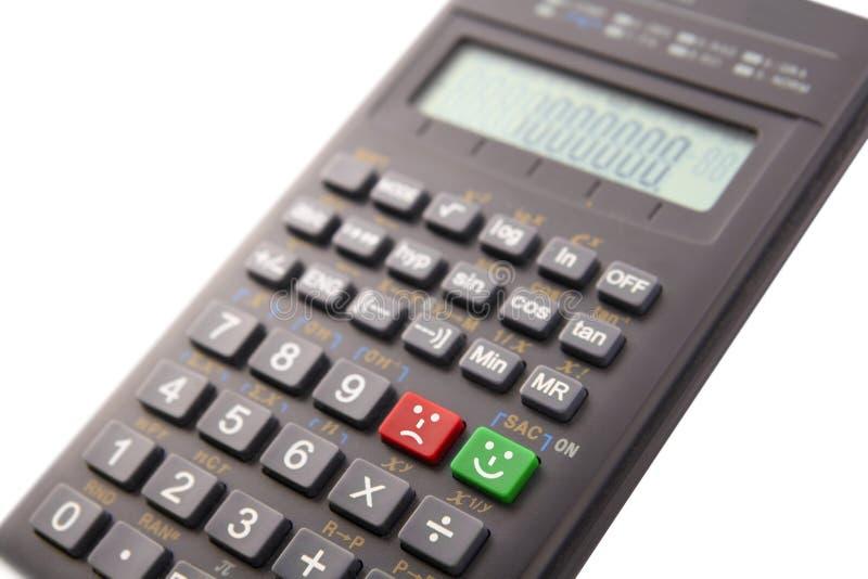 Calculatrice avec des émoticônes image stock