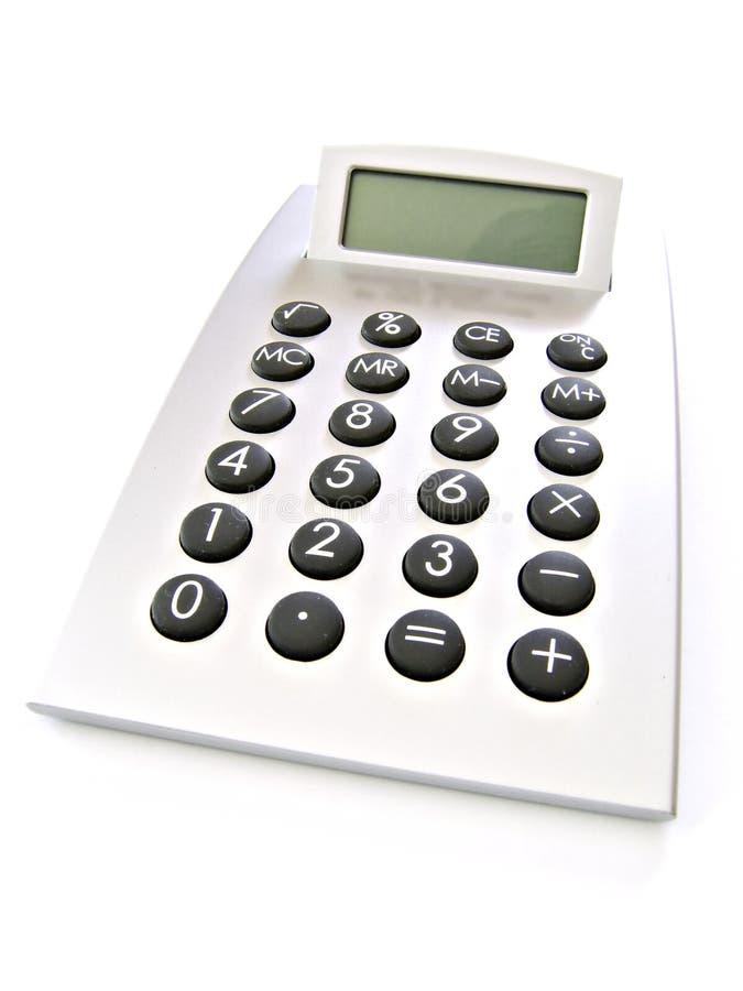 Calculatrice avec l'écran blanc photo stock