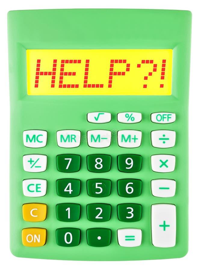 Calculatrice avec l'AIDE sur l'affichage image libre de droits