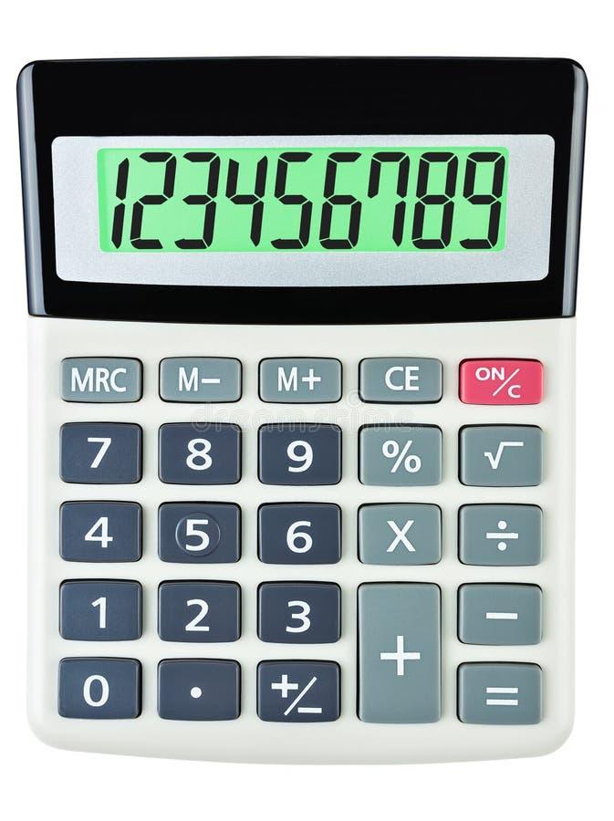 Calculatrice avec 123456789 sur l'affichage photos libres de droits