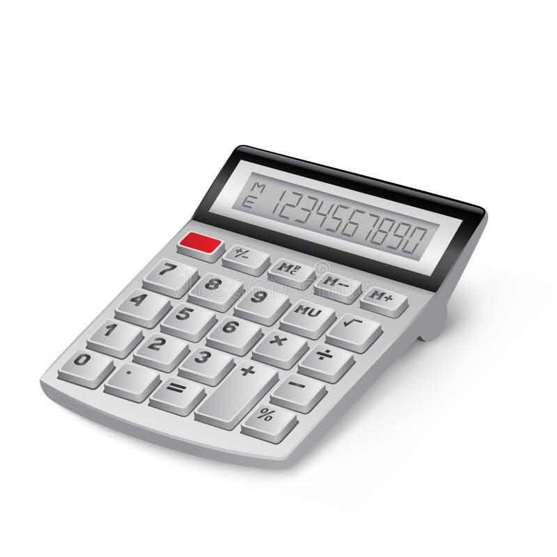 Calculatrice blanche illustration libre de droits