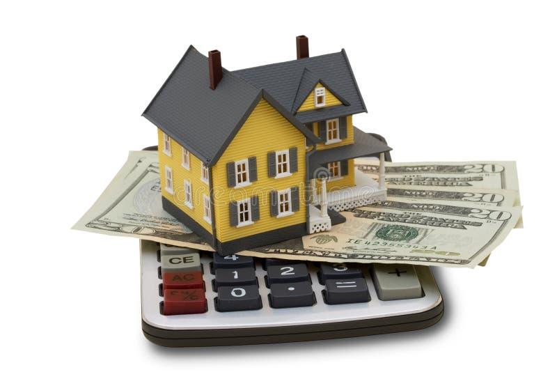 Calculatrice d'hypothèque photos stock
