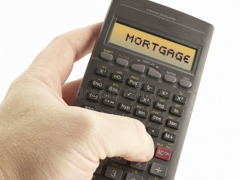 Calculatrice d'hypothèque photo stock
