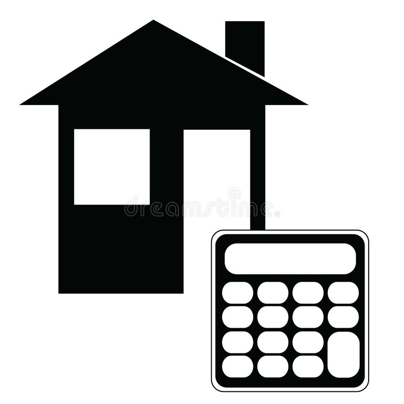 Calculatrice d'hypothèque illustration de vecteur