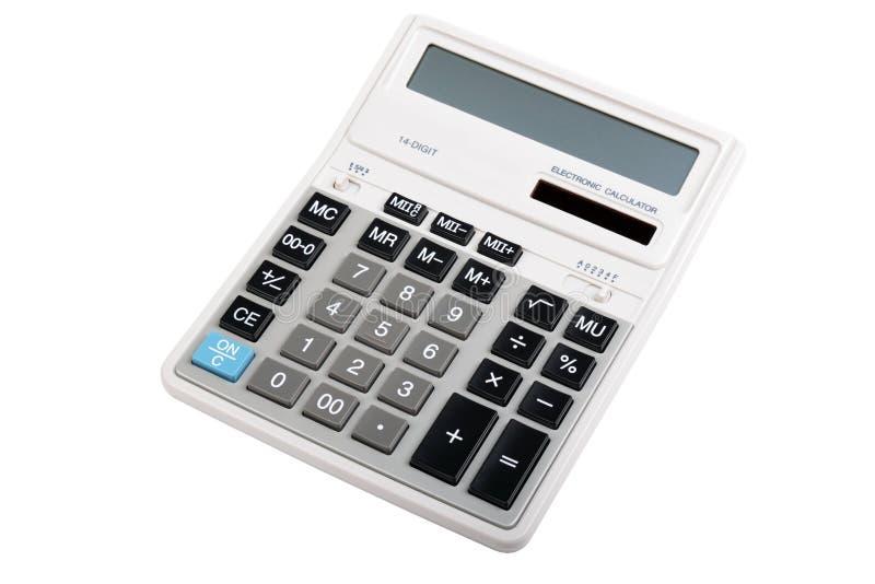 calculatrice d'isolement photographie stock