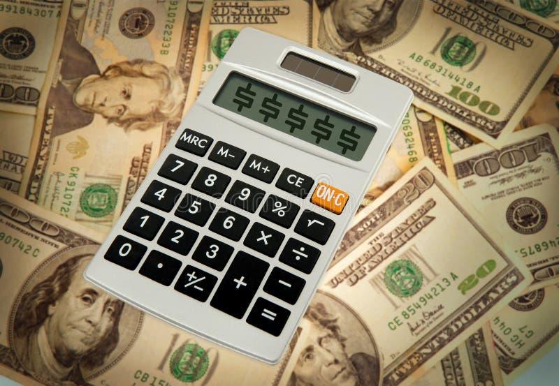 Calculatrice de budget photographie stock