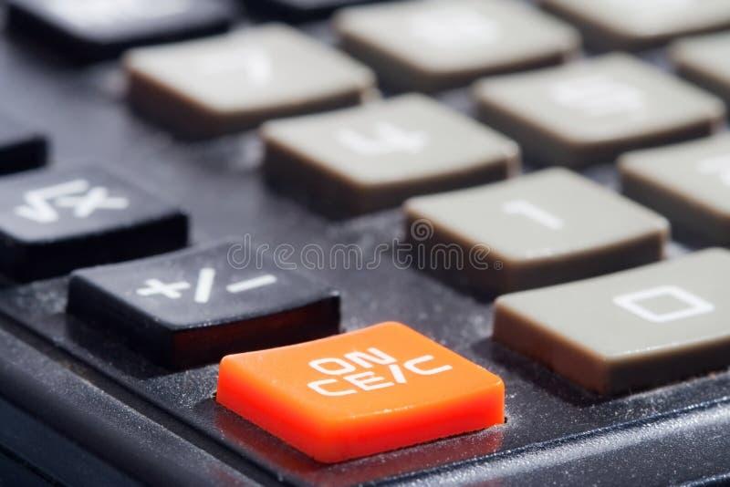 Calculatrice. fin vers le haut. photos libres de droits