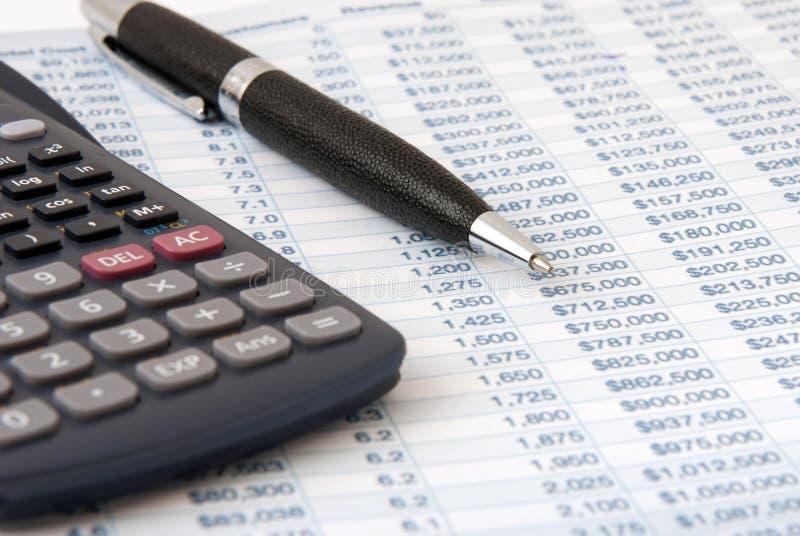 Calculatrice financière photographie stock