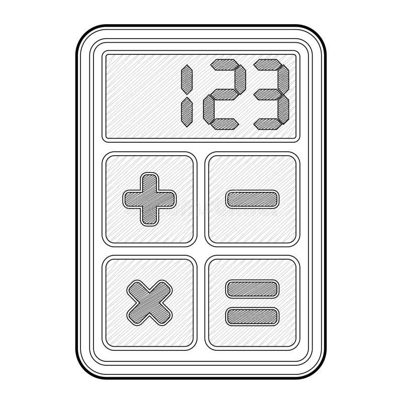 Calculatrice, graphisme d'application illustration libre de droits
