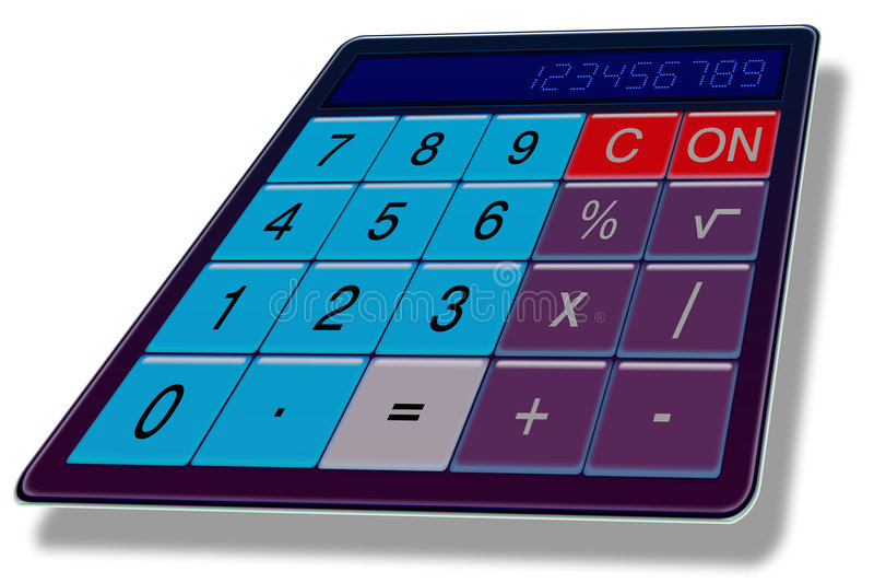 Calculatrice II Photo libre de droits
