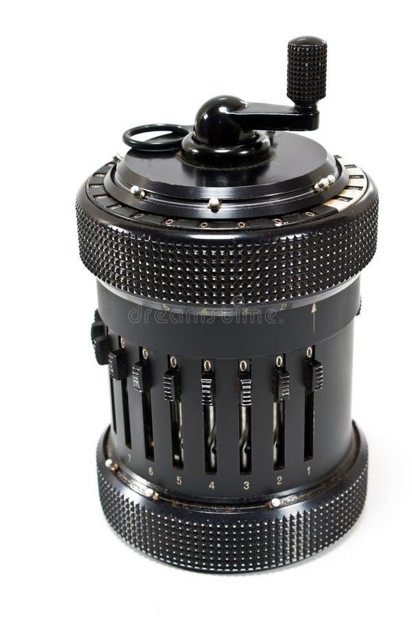 Calculatrice mécanique de cru photo stock