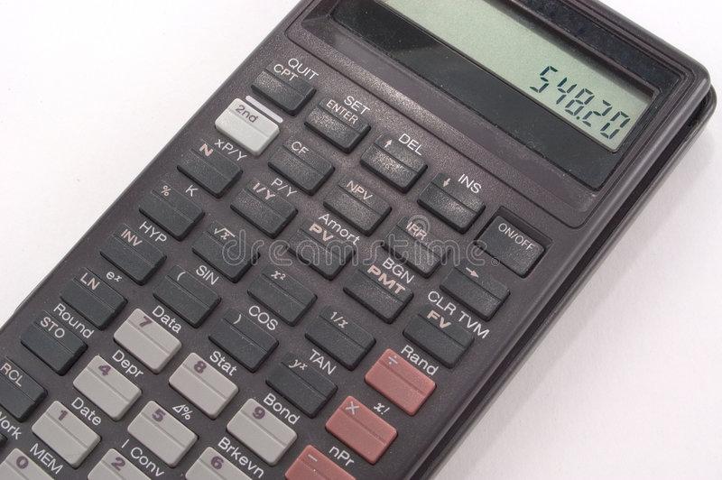 Calculatrice Portative Photographie stock
