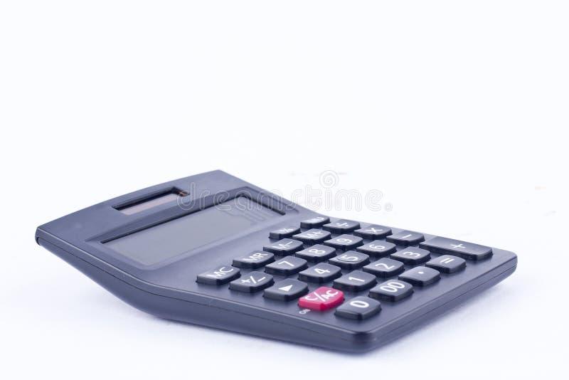 Calculatrice pour calculer l'anticipation commerciale de comptabilité de finances de comptabilité de nombres sur les finances bla image stock