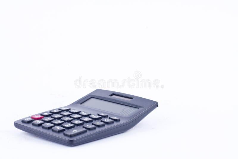 Calculatrice pour calculer l'anticipation commerciale de comptabilité de finances de comptabilité de nombres sur les finances bla photo stock