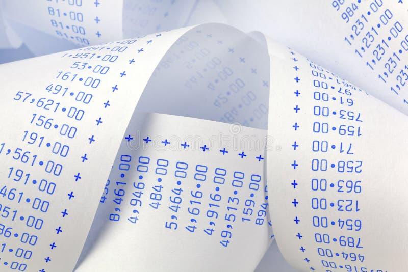 Calculatrice pour des coûts, charges, produits et photographie stock libre de droits