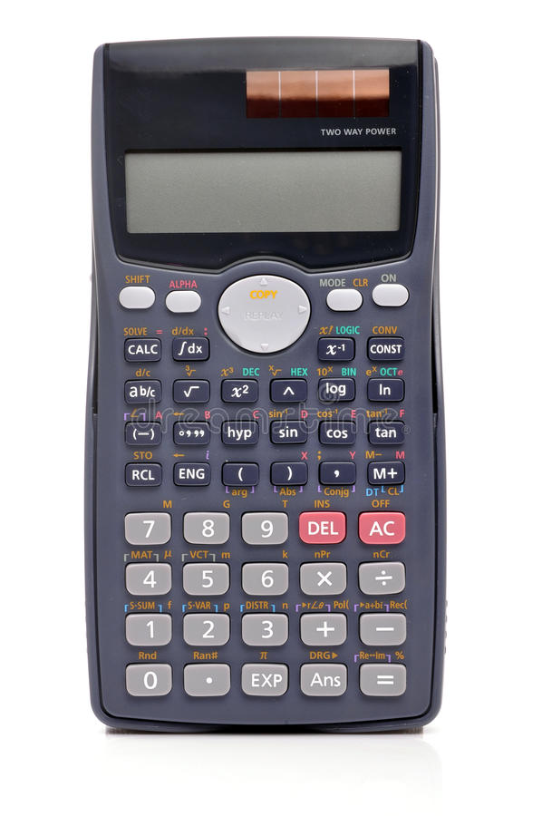 Calculatrice scientifique photos libres de droits
