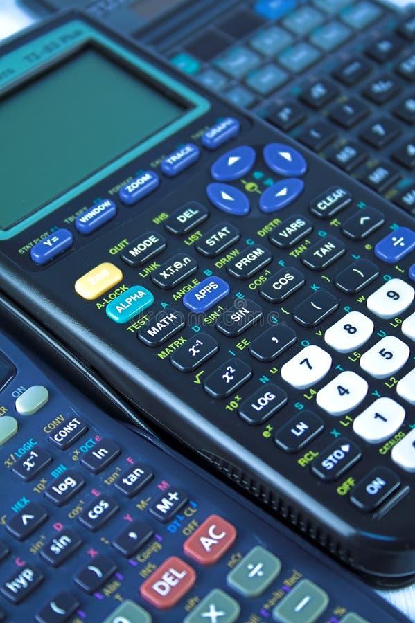 Calculatrices scientifiques photo stock