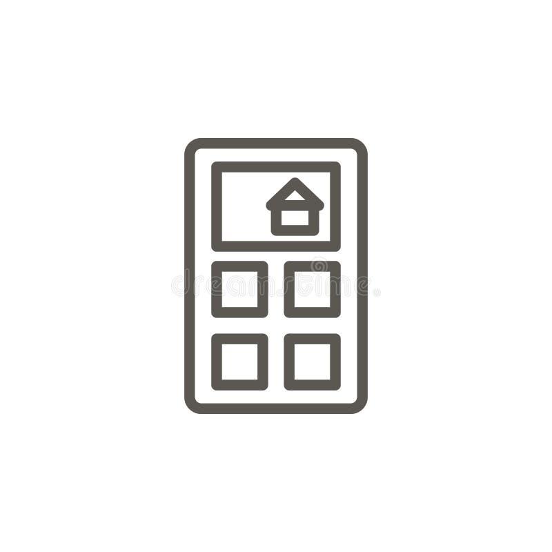 Calcule, abrigue, fixe o preço do ícone do vetor Ilustra??o simples do elemento do conceito de UI Calcule, abrigue, fixe o preço  ilustração stock