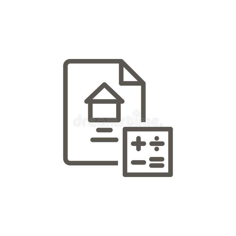 Calcule, contrate, abrigue, em casa ícone Ilustra??o simples do elemento do conceito de UI Calcule, contrate, abrigue, em casa ilustração do vetor