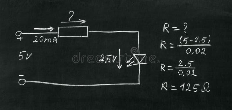 Calcule el resistor imágenes de archivo libres de regalías