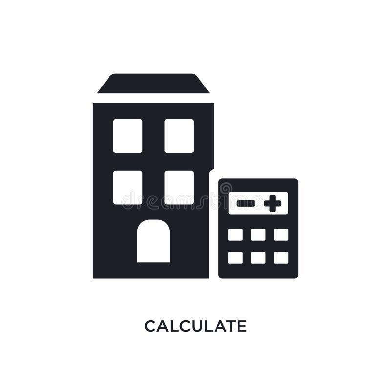 calcule o ícone isolado ilustração simples do elemento dos ícones do conceito dos bens imobiliários calcule o projeto editável do ilustração do vetor