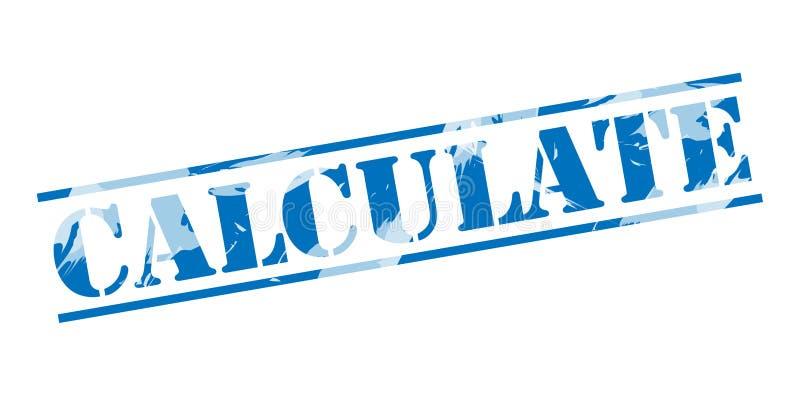 Calcule o selo azul ilustração do vetor